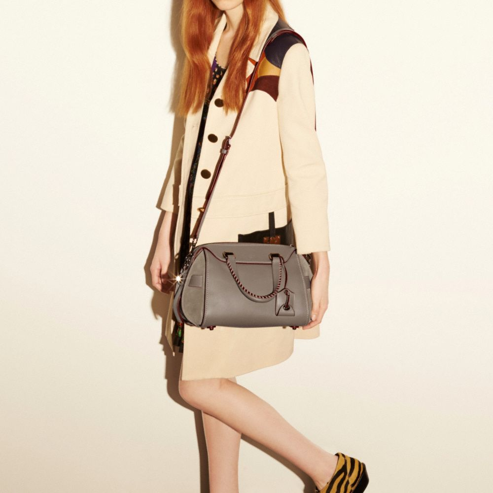 Ace Satchel in Glovetanned Leather and Suede - Alternate View A4