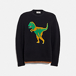 REXY INTARSIA SWEATER - BLACK - COACH 37484