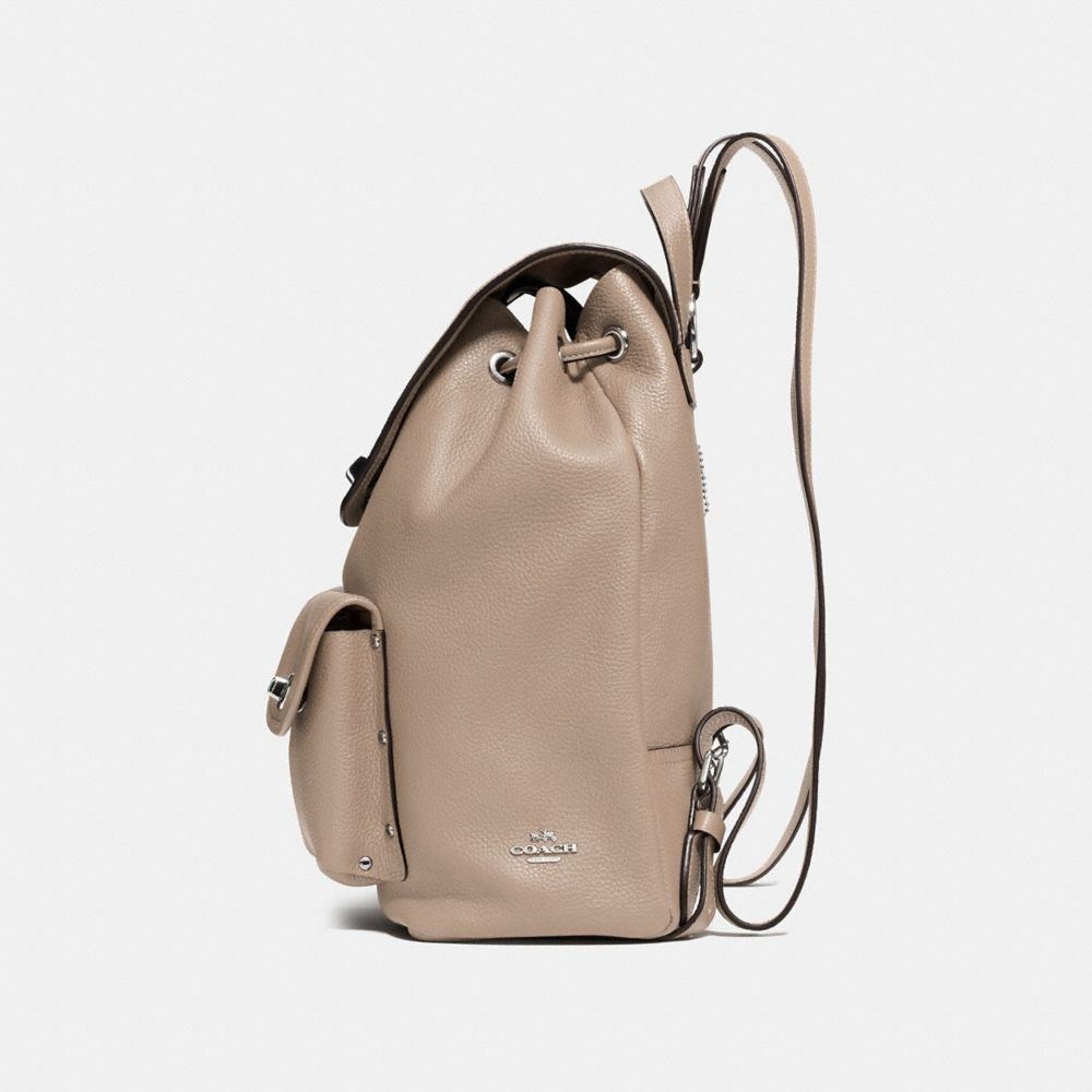 Turnlock Rucksack in Polished Pebble Leather - Alternate View A1