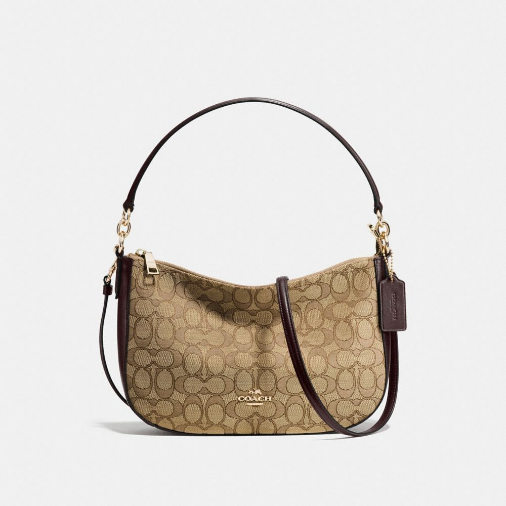 CHELSEA CROSSBODY IN SIGNATURE JACQUARD - Alternate View