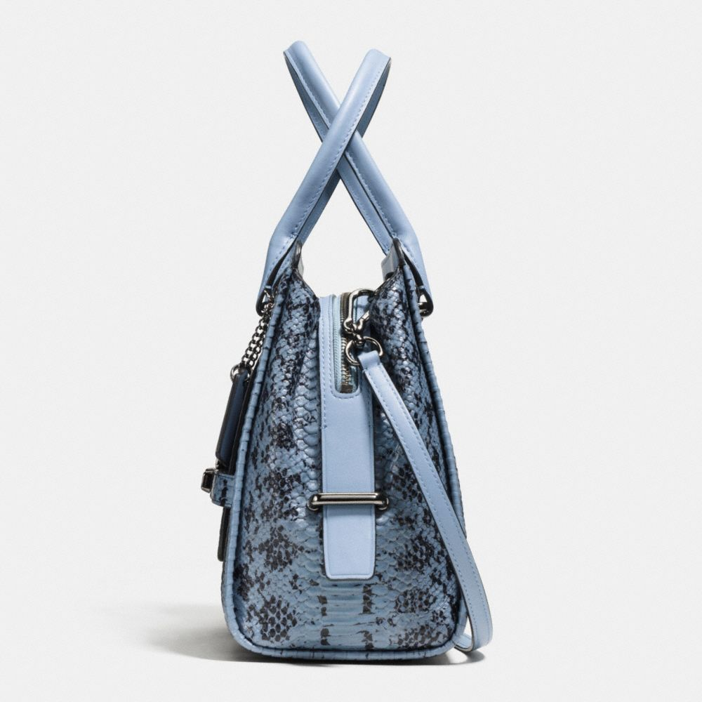 Coach Swagger Frame Satchel in Colorblock Exotic Embossed Leather - Alternate View A1