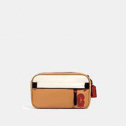 EDGE BELT BAG IN COLORBLOCK WITH COACH PATCH - QB/LATTE MULTI - COACH 3767