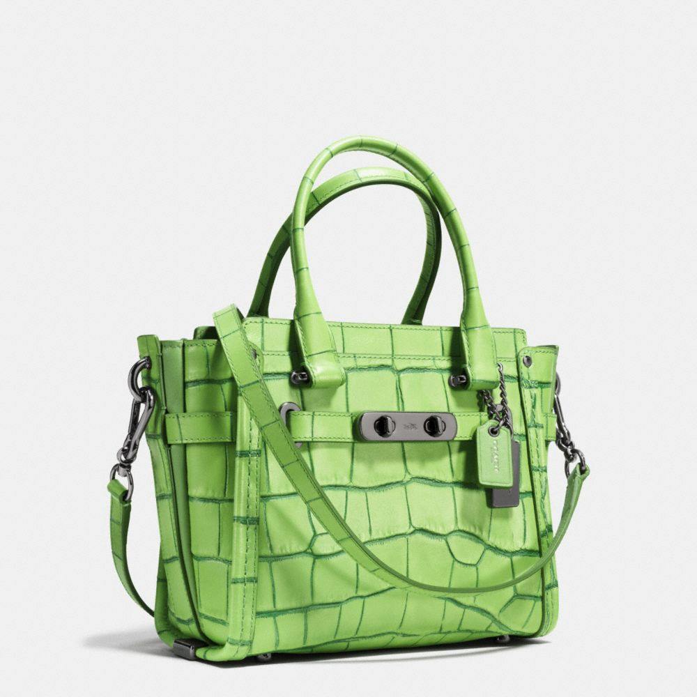 Coach Swagger 21 in Contrast Exotic Embossed Leather - Alternate View A2