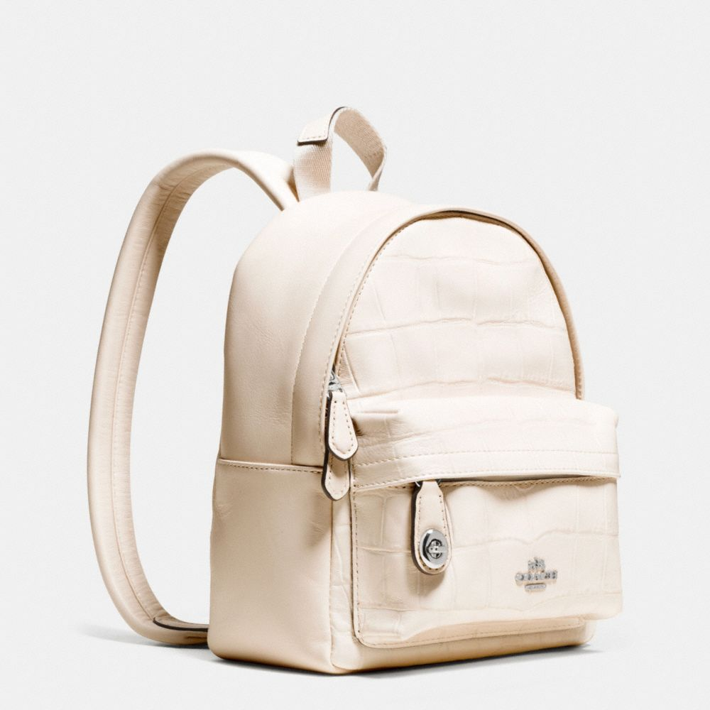Mini Campus Backpack in Croc Embossed Leather - Alternate View A2
