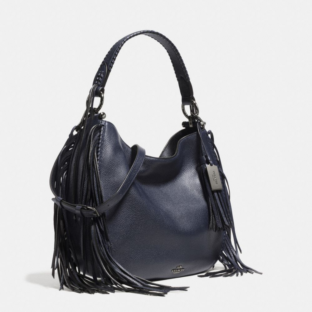 Coach Nomad Fringe Hobo in Pebble Leather - Alternate View A2