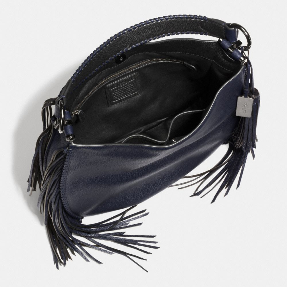 Coach Nomad Fringe Hobo in Pebble Leather - Alternate View A3