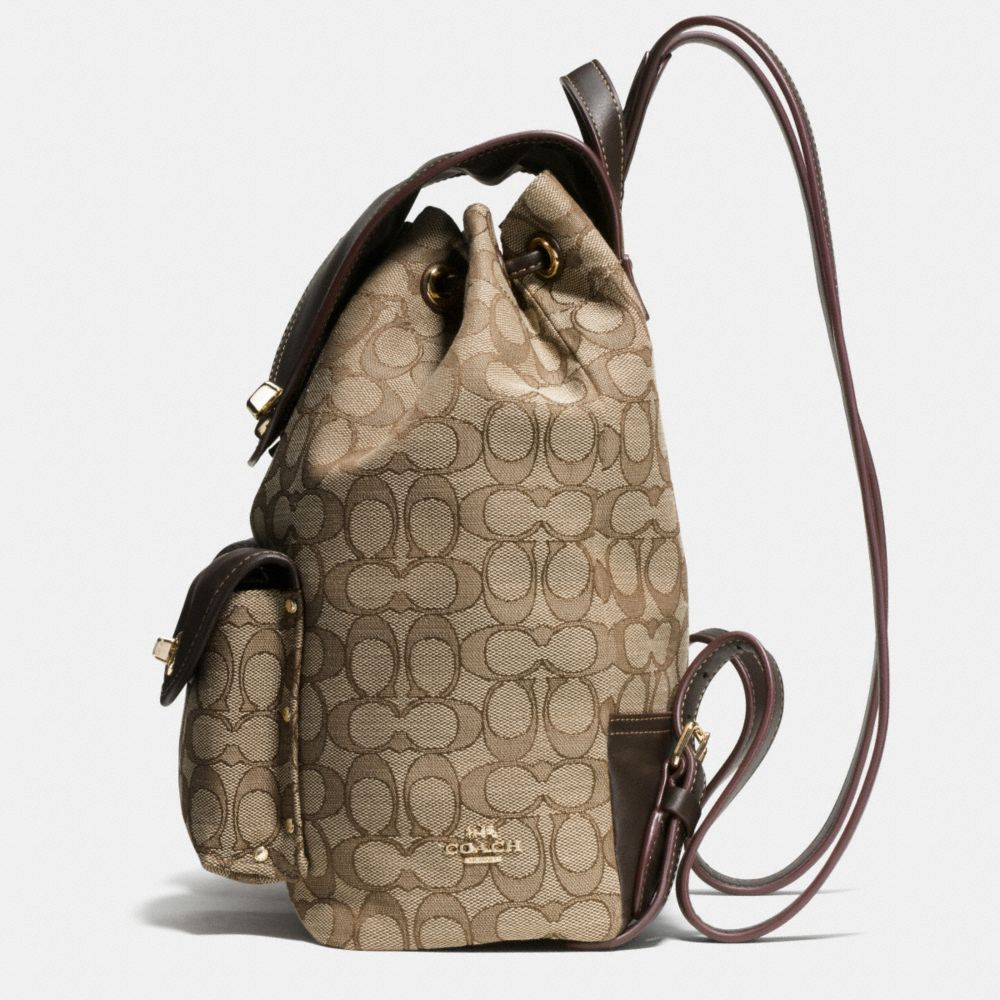 TURNLOCK RUCKSACK IN SIGNATURE JACQUARD - Alternate View