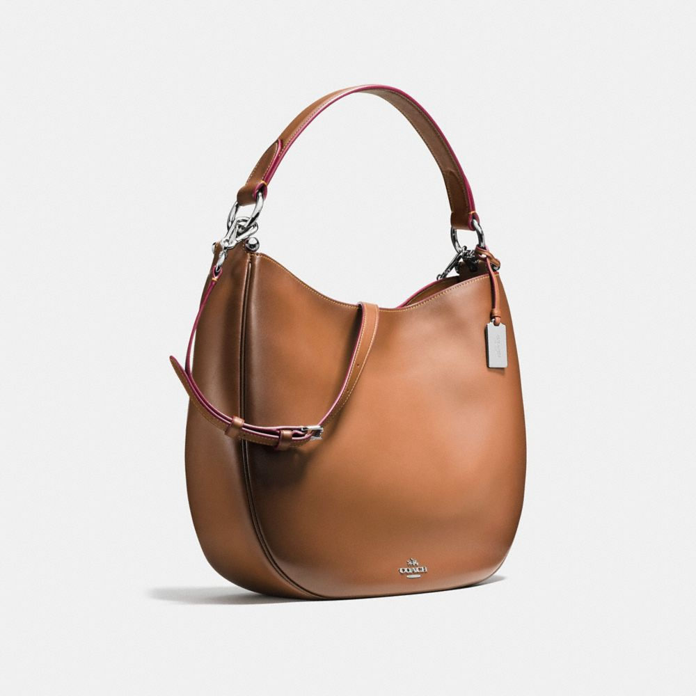COACH NOMAD HOBO IN BURNISHED GLOVETANNED LEATHER - Alternate View