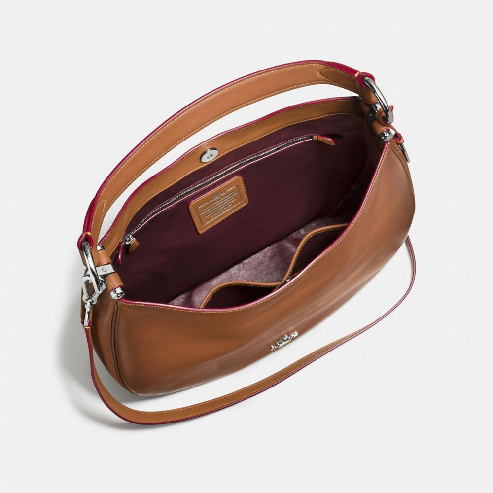 COACH NOMAD HOBO IN BURNISHED GLOVETANNED LEATHER - Alternate View A3