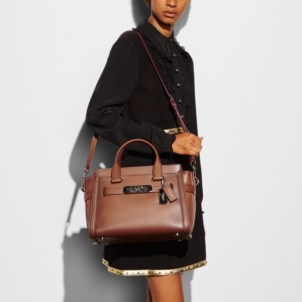 Coach Coach Swagger in Burnished Glovetanned Leather Alternate View 3
