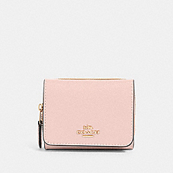SMALL TRIFOLD WALLET - IM/BLOSSOM - COACH 37968