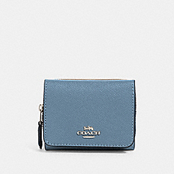 SMALL TRIFOLD WALLET - SV/SLATE - COACH 37968