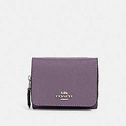 SMALL TRIFOLD WALLET - SV/DUSTY LAVENDER - COACH 37968