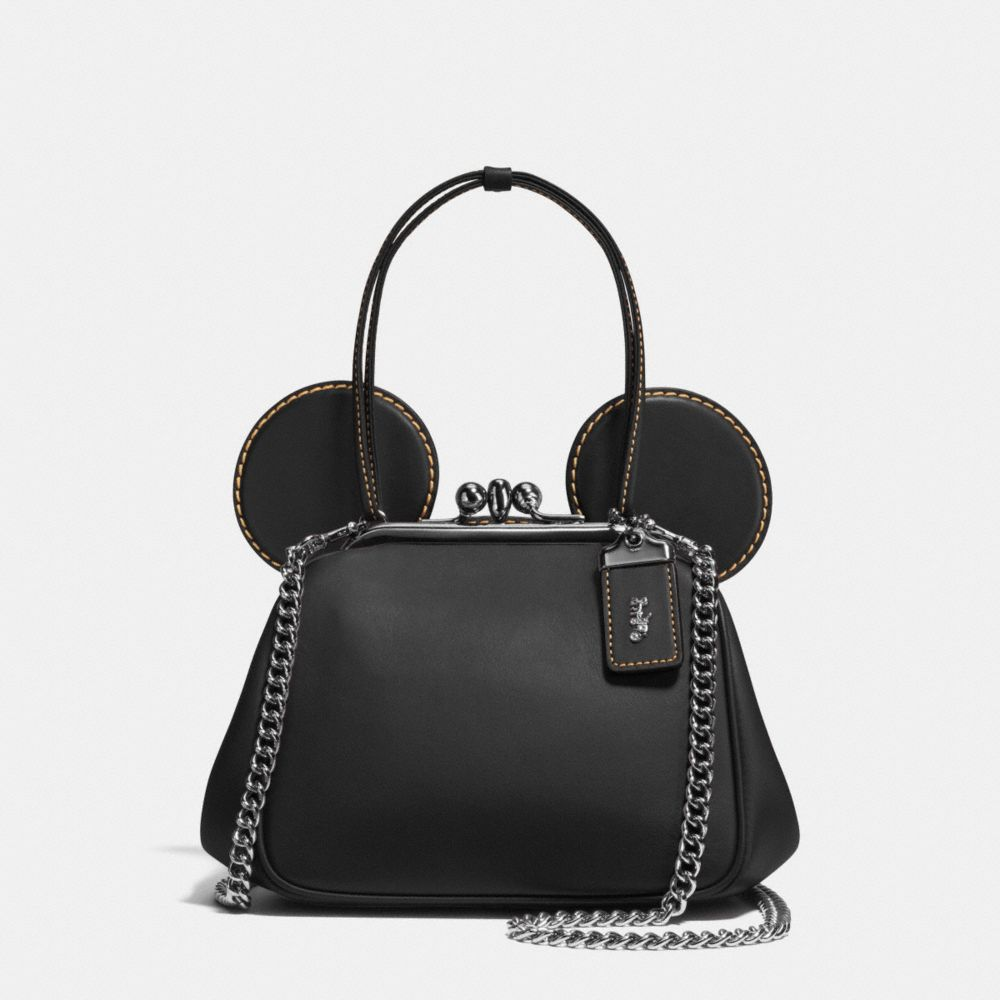 Coach Mickey Kisslock Bag in Glovetanned Leather