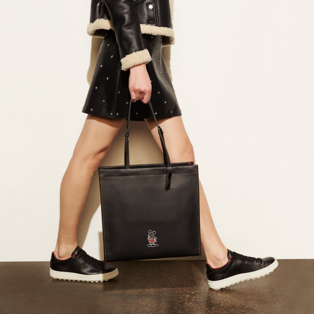 Mickey Skinny Tote in Glovetanned Leather - Alternate View A1