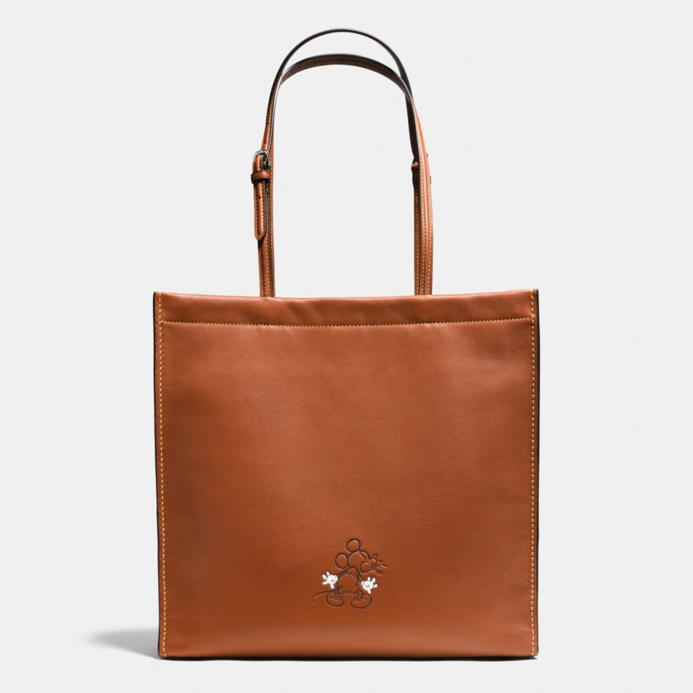 MICKEY SKINNY TOTE IN GLOVETANNED LEATHER - Alternate View