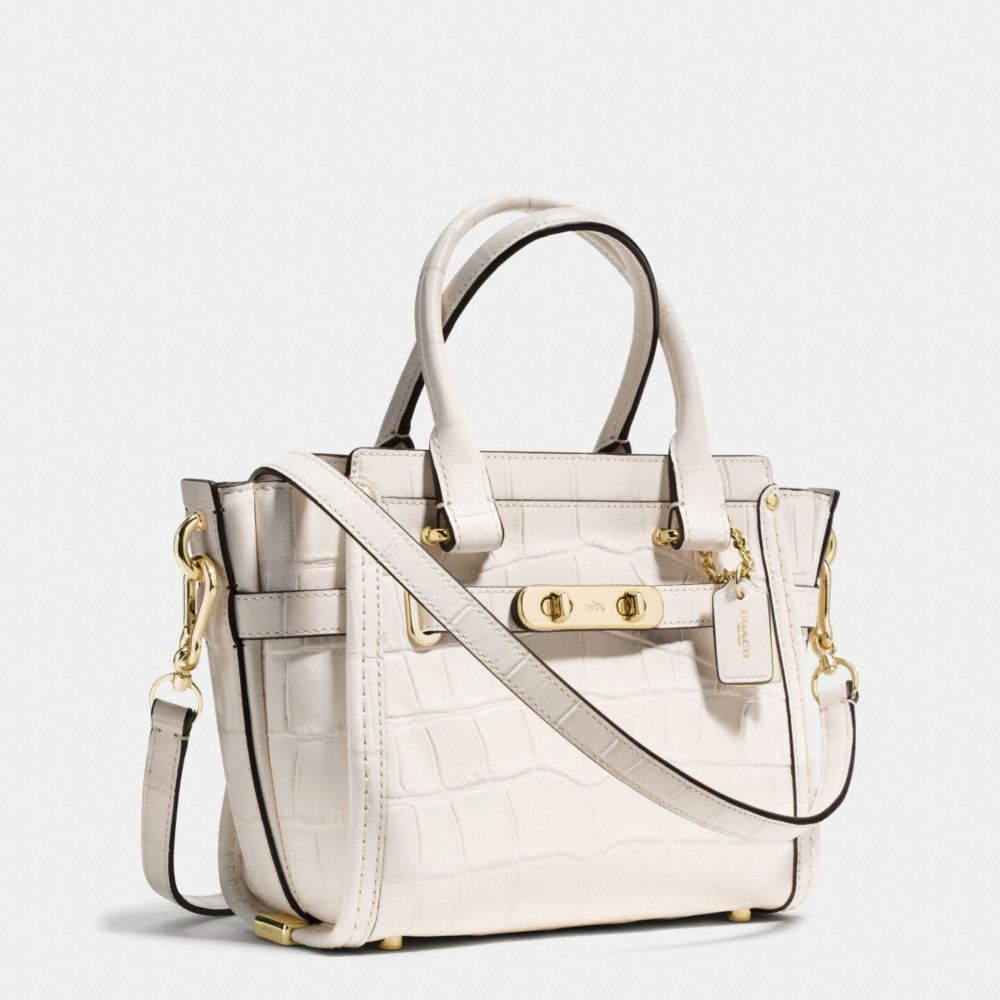 Coach Swagger 21 Carryall in Croc Embossed Leather - Alternate View A2
