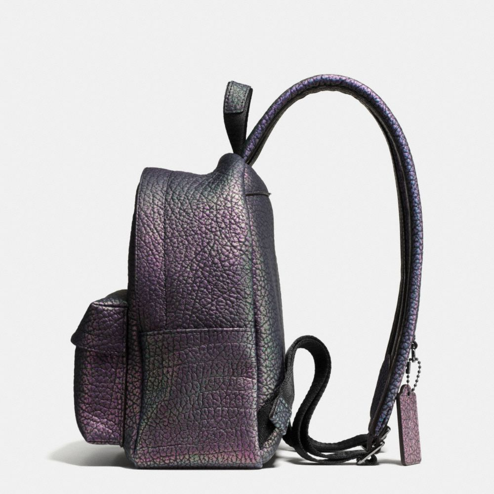 Coach Mini Campus Backpack in Hologram Leather Alternate View 1