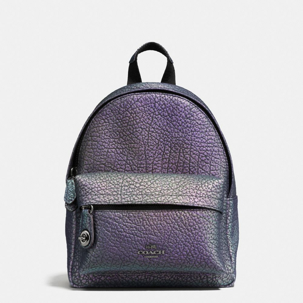 Coach Mini Campus Backpack in Hologram Leather