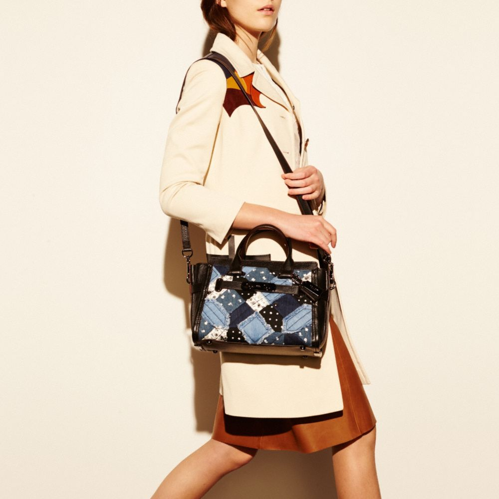 COACH SWAGGER 27 IN CANYON QUILT DENIM - Alternate View A4