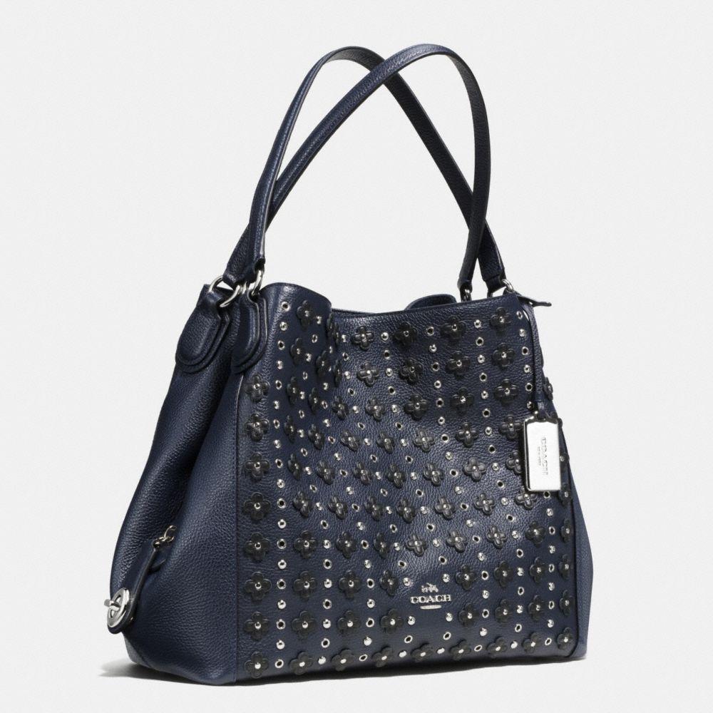 Edie Shoulder Bag 31 in Floral Rivets Leather - Alternate View A2