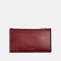 ZIP CARD CASE - RED CURRANT - COACH 38144