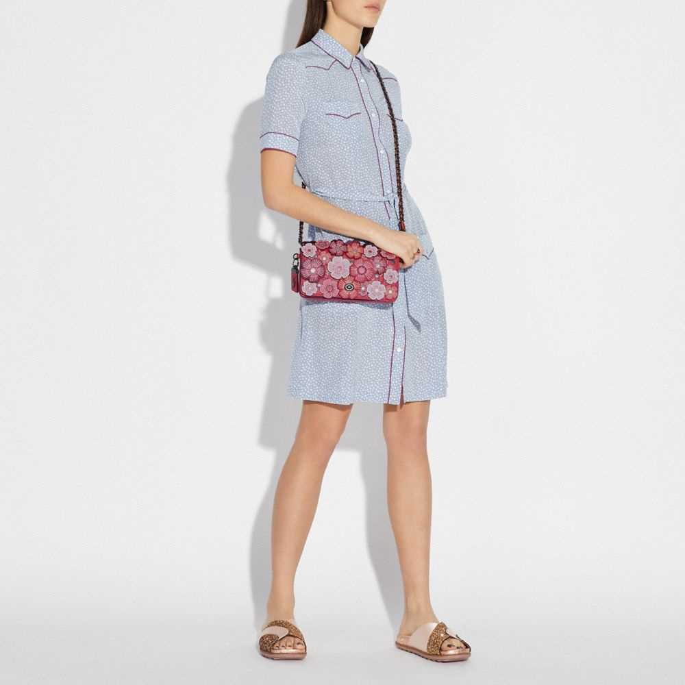 Coach Dinky With Tea Rose Alternate View 3