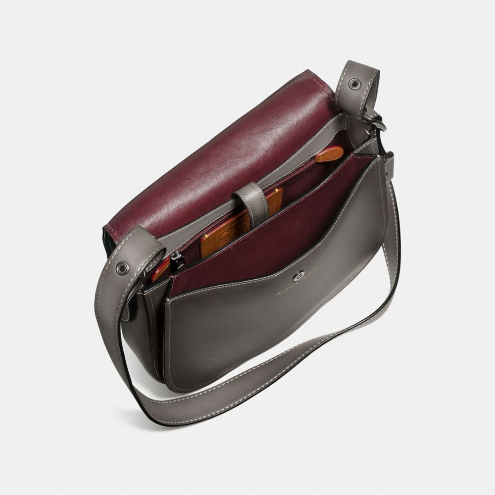 Coach Saddle Bag in Burnished Glovetanned Leather Alternate View 2