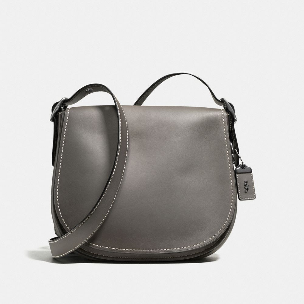 Saddle Bag in Burnished Glovetanned Leather
