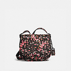 SADDLE 23 - MOUNTAIN BUDS BLACK/PINK/DARK GUNMETAL - COACH 38206