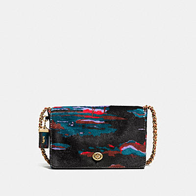 DINKY CROSSBODY 24 IN PRINTED HAIRCALF