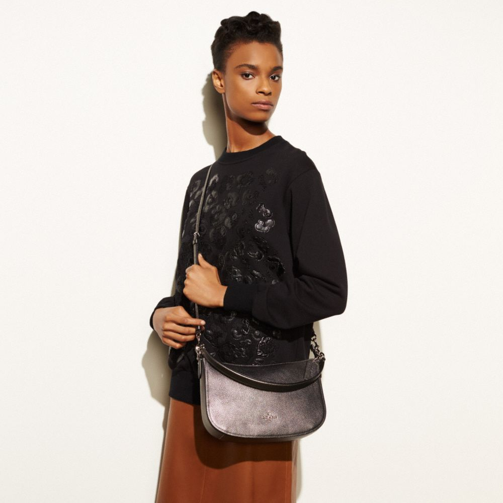 Chelsea Crossbody in Polished Pebble Leather - Alternate View A2