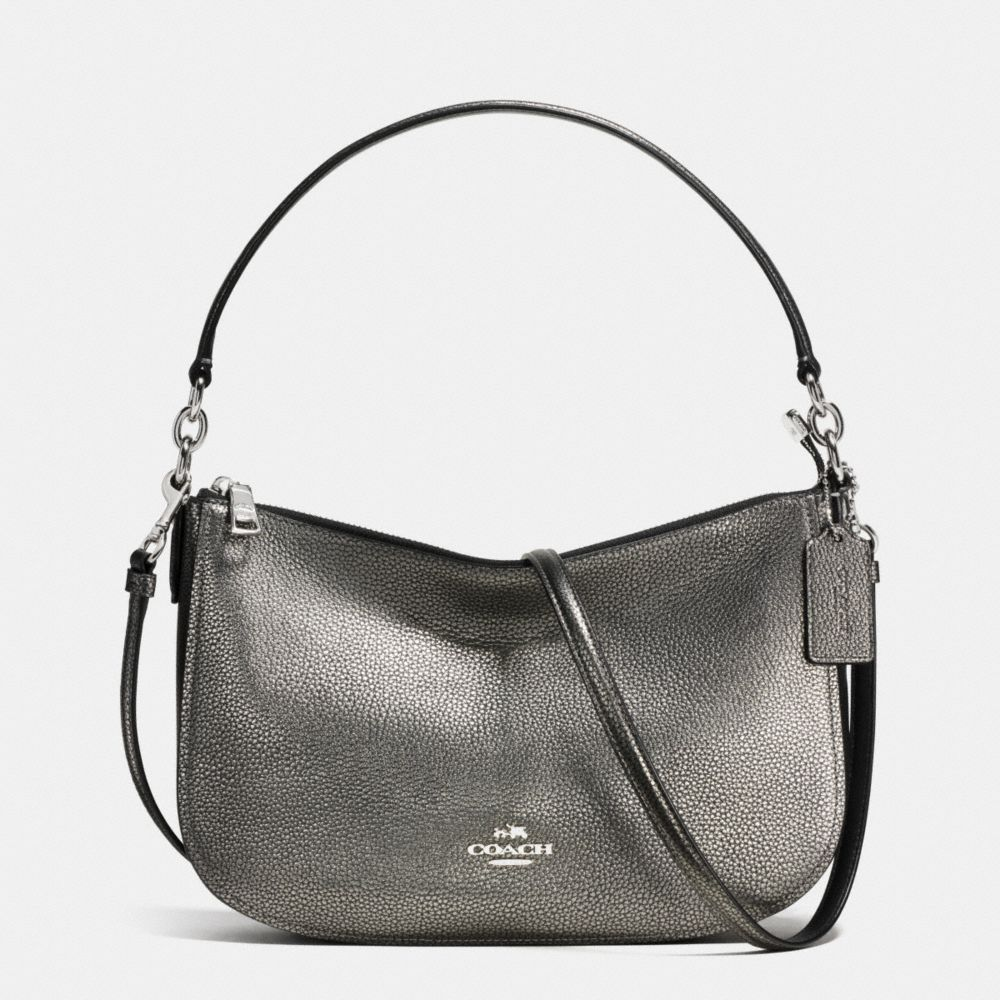 CHELSEA CROSSBODY IN POLISHED PEBBLE LEATHER