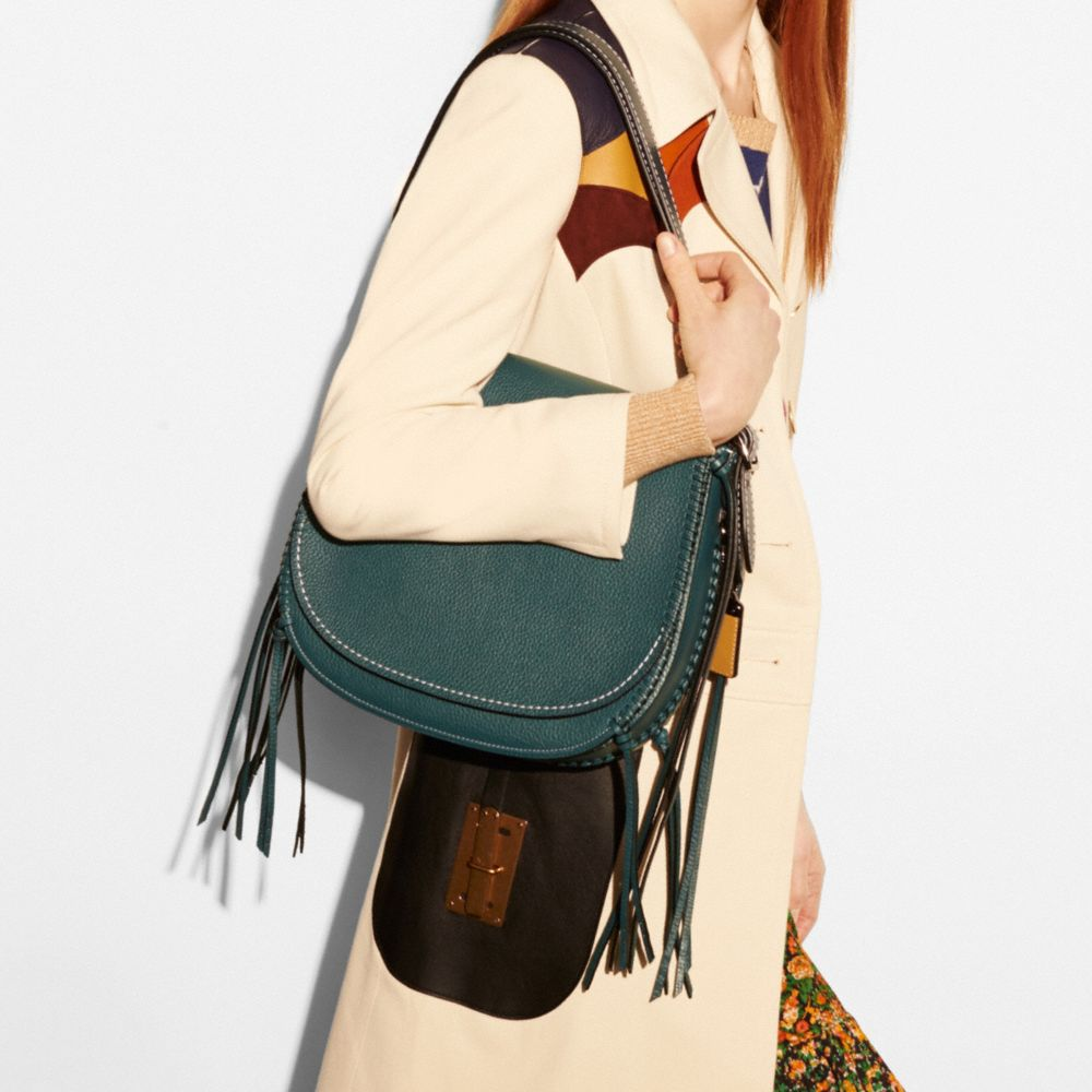WHIPLASH SADDLE BAG IN LEATHER - Alternate View A6