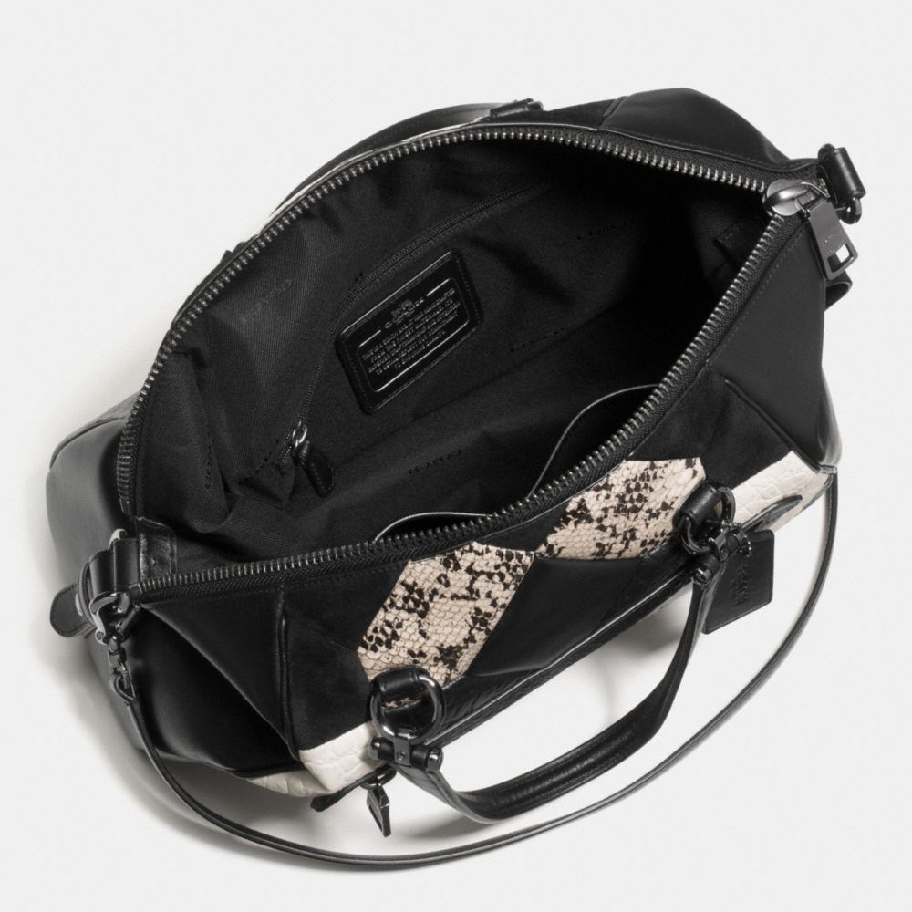 Canyon Quilt Primrose Satchel in Exotic Embossed Leather - Alternate View A3