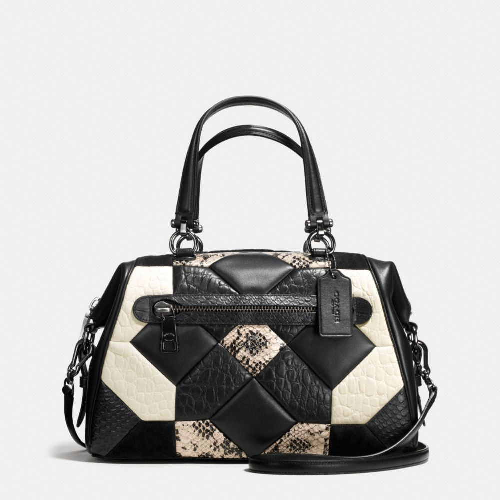 CANYON QUILT PRIMROSE SATCHEL IN EXOTIC EMBOSSED LEATHER