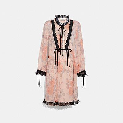 ローズ プリント ドレス