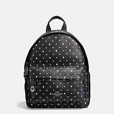 MINI CAMPUS BACKPACK IN PRINTED LEATHER