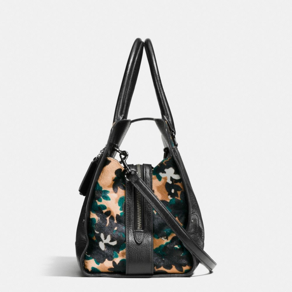 Coach Mercer Satchel in Printed Haircalf Alternate View 1
