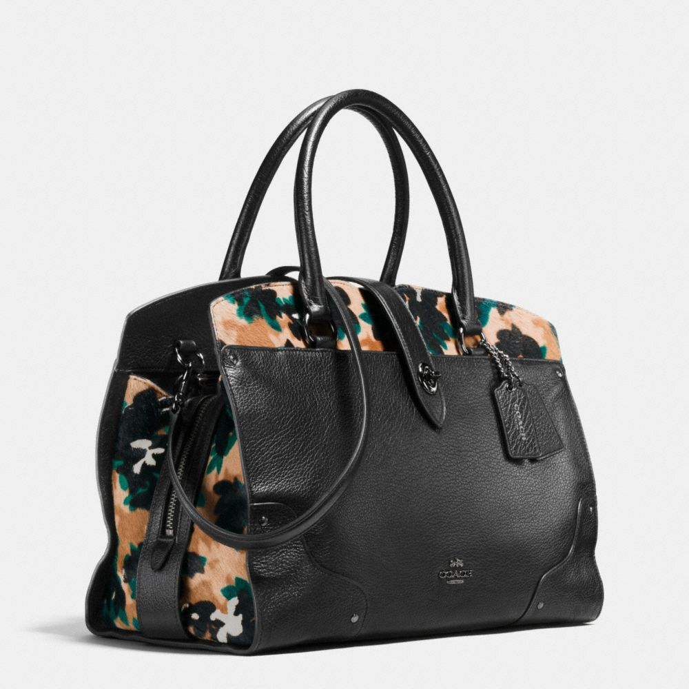 Coach Mercer Satchel in Printed Haircalf Alternate View 2
