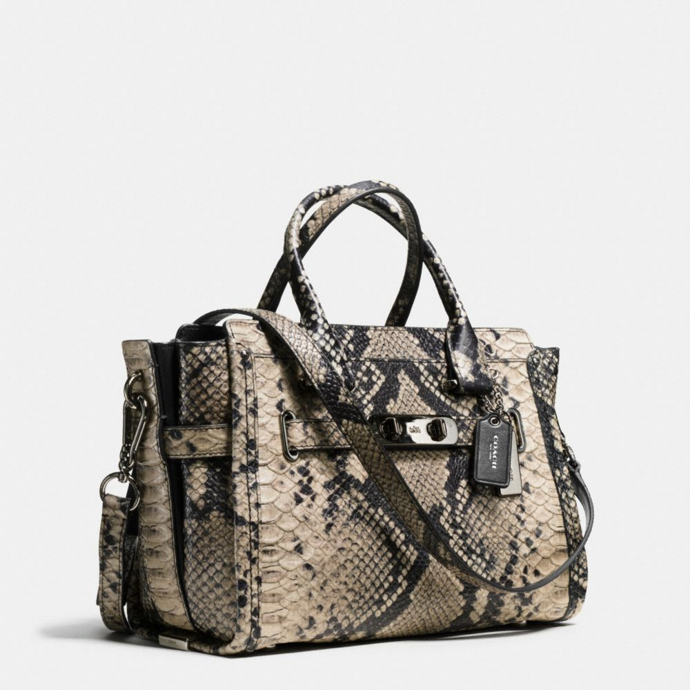 Coach Swagger 27 Carryall in Snake-Embossed Leather - Alternate View A2