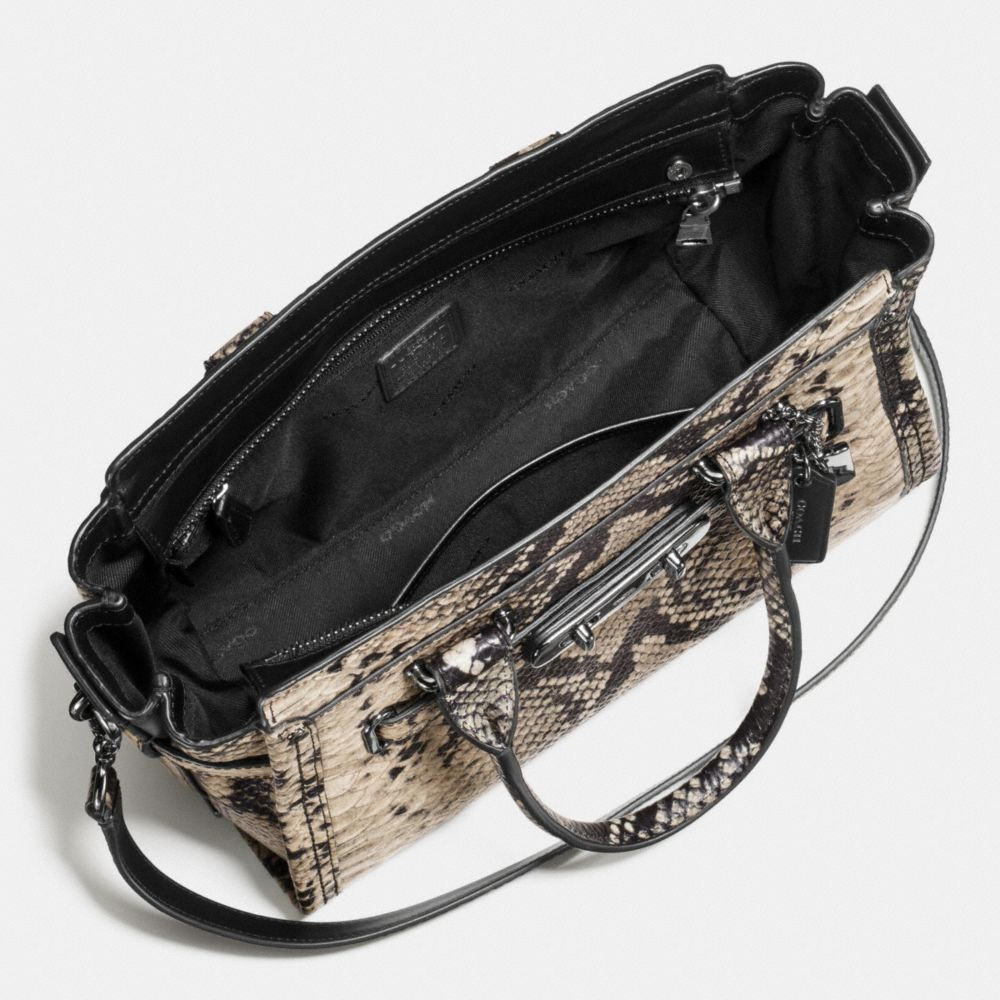 Coach Swagger 27 Carryall in Snake-Embossed Leather - Alternate View A3