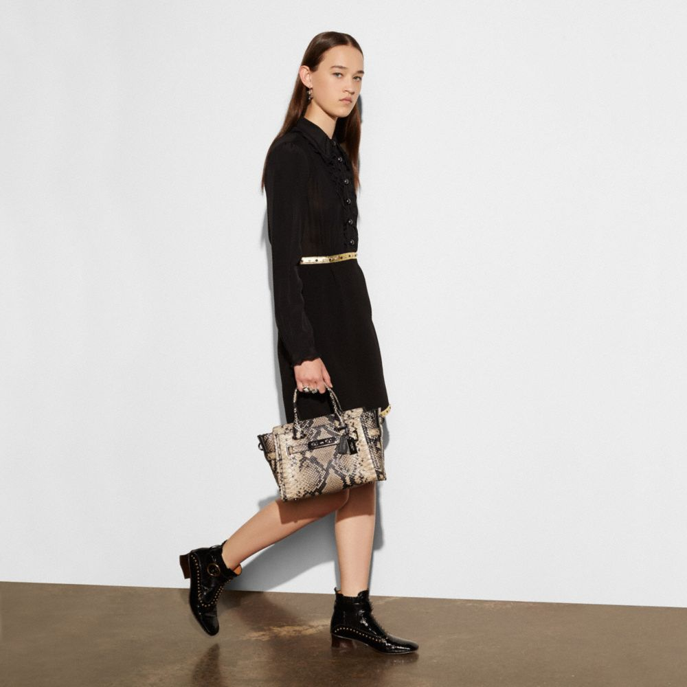 Coach Swagger 27 Carryall in Snake-Embossed Leather - Alternate View A5