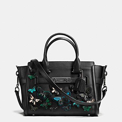 COACH SWAGGER 27 IN GLOVETANNED LEATHER WITH BUTTERFLY