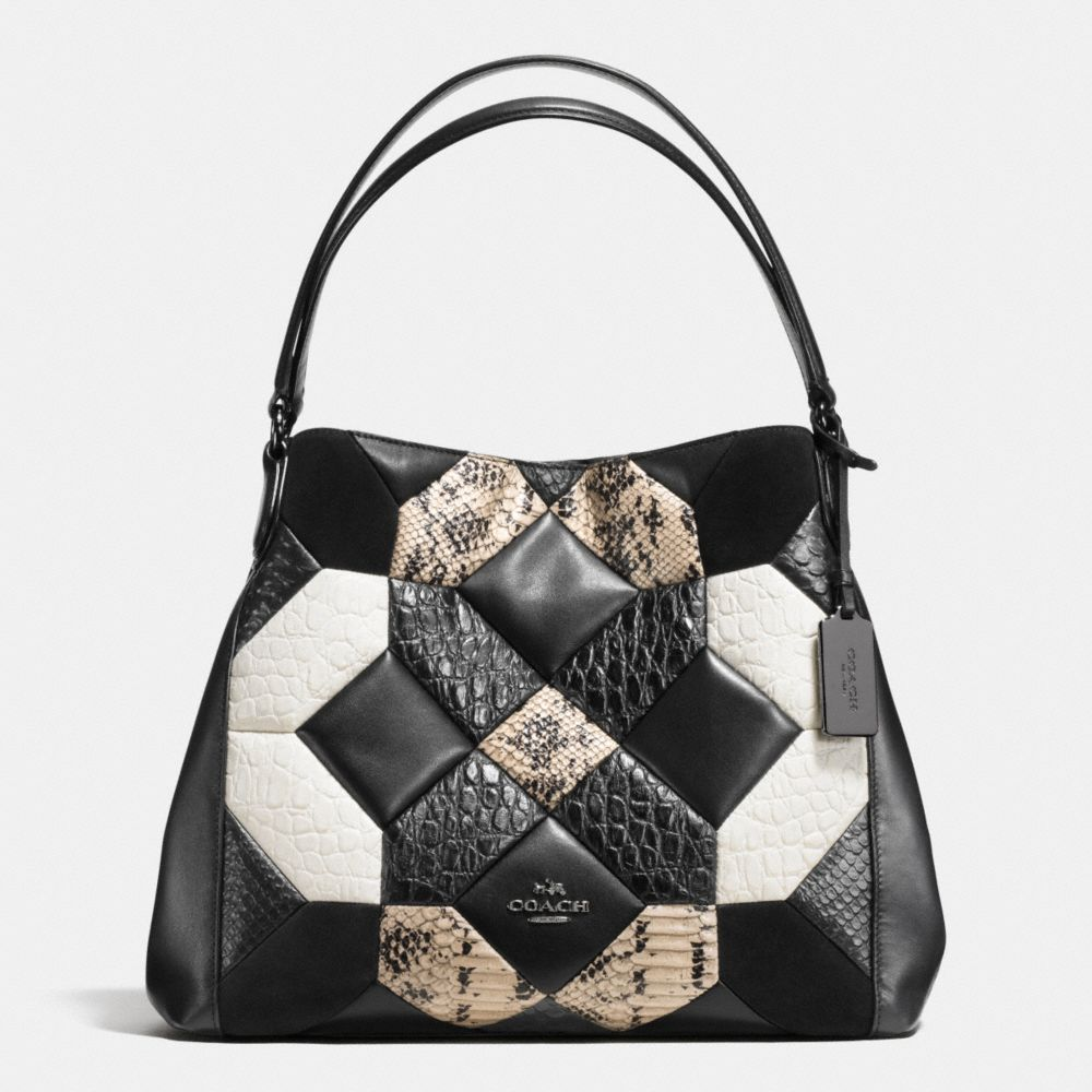 Canyon Quilt Edie Shoulder Bag 31 in Exotic Embossed Leather