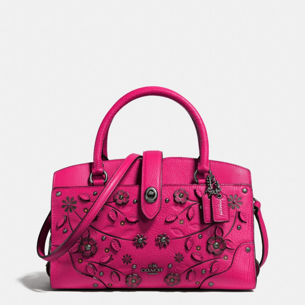 Willow Floral Mercer Satchel 24 in Grain Leather
