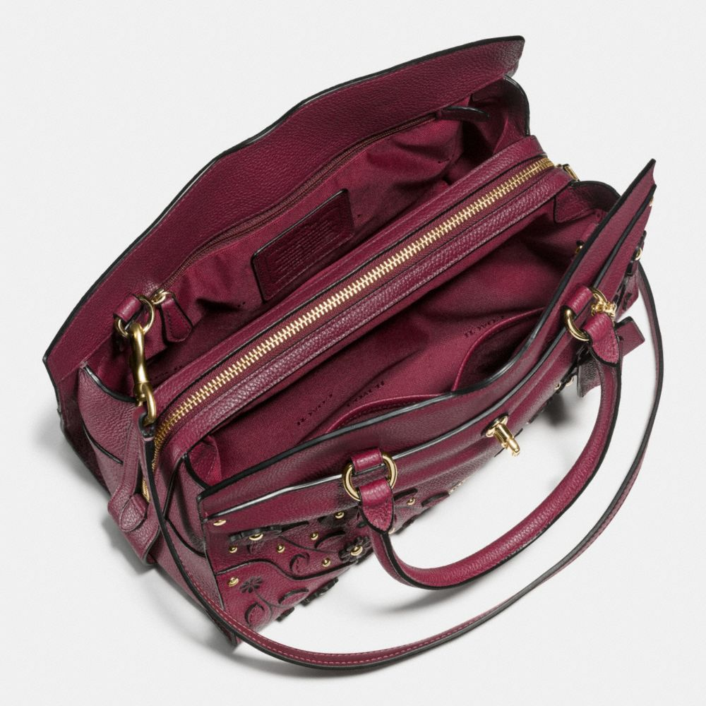 Willow Floral Mercer Satchel 30 in Grain Leather - Alternate View A2