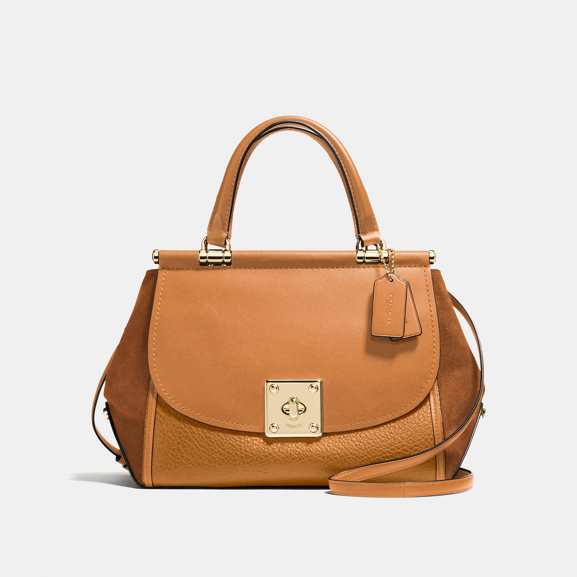 Coach Drifter Carryall In Mixed Leathers