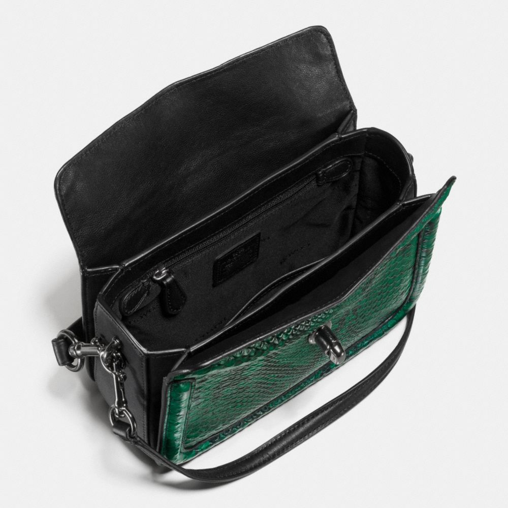 Page Crossbody in Snake-Embossed Leather - Alternate View A1
