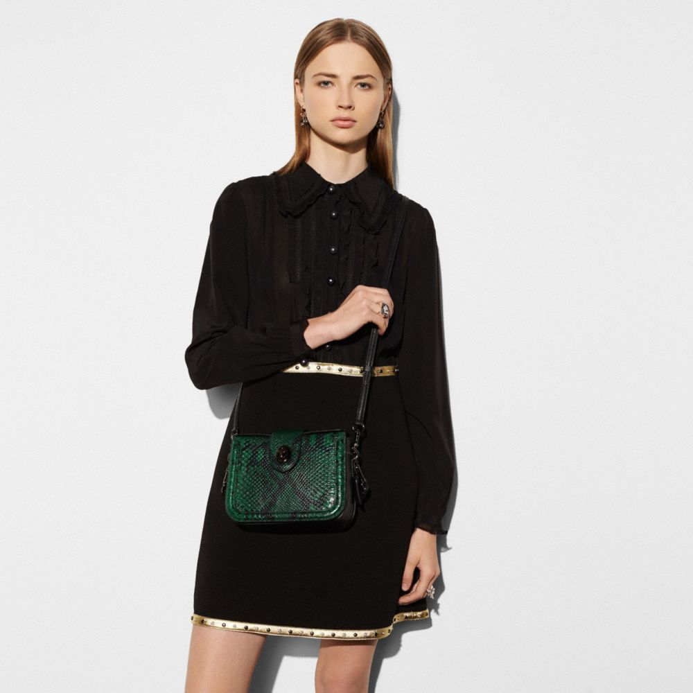 PAGE CROSSBODY IN SNAKE-EMBOSSED LEATHER - Alternate View